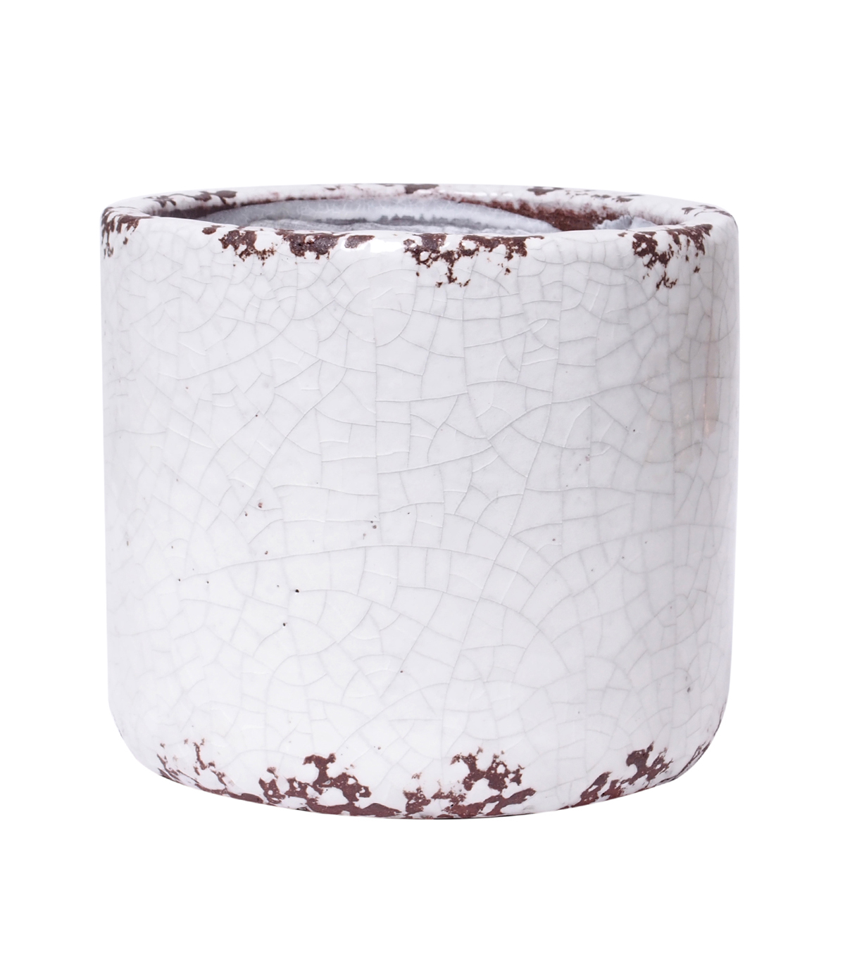 Bloom Room Small Ceramic Planter-White Crackle