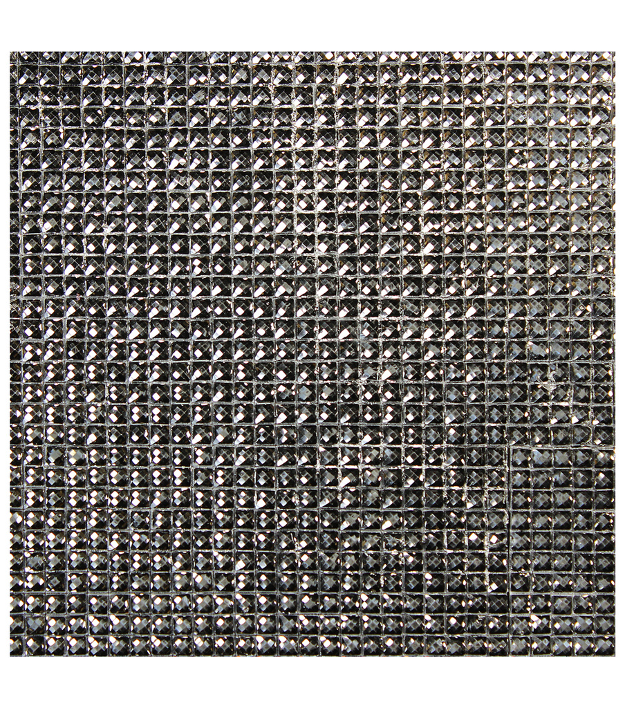 Dazzling  Resin Jewel Self Adhesive Sheet-Gunmetal