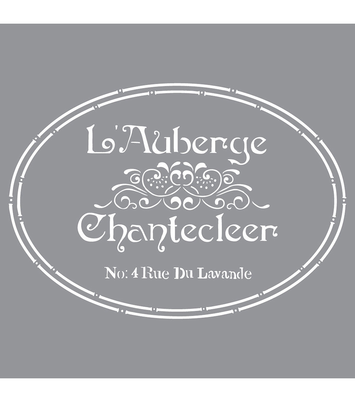Americana Decor Stencil 12\u0022X12\u0022-The French Inn