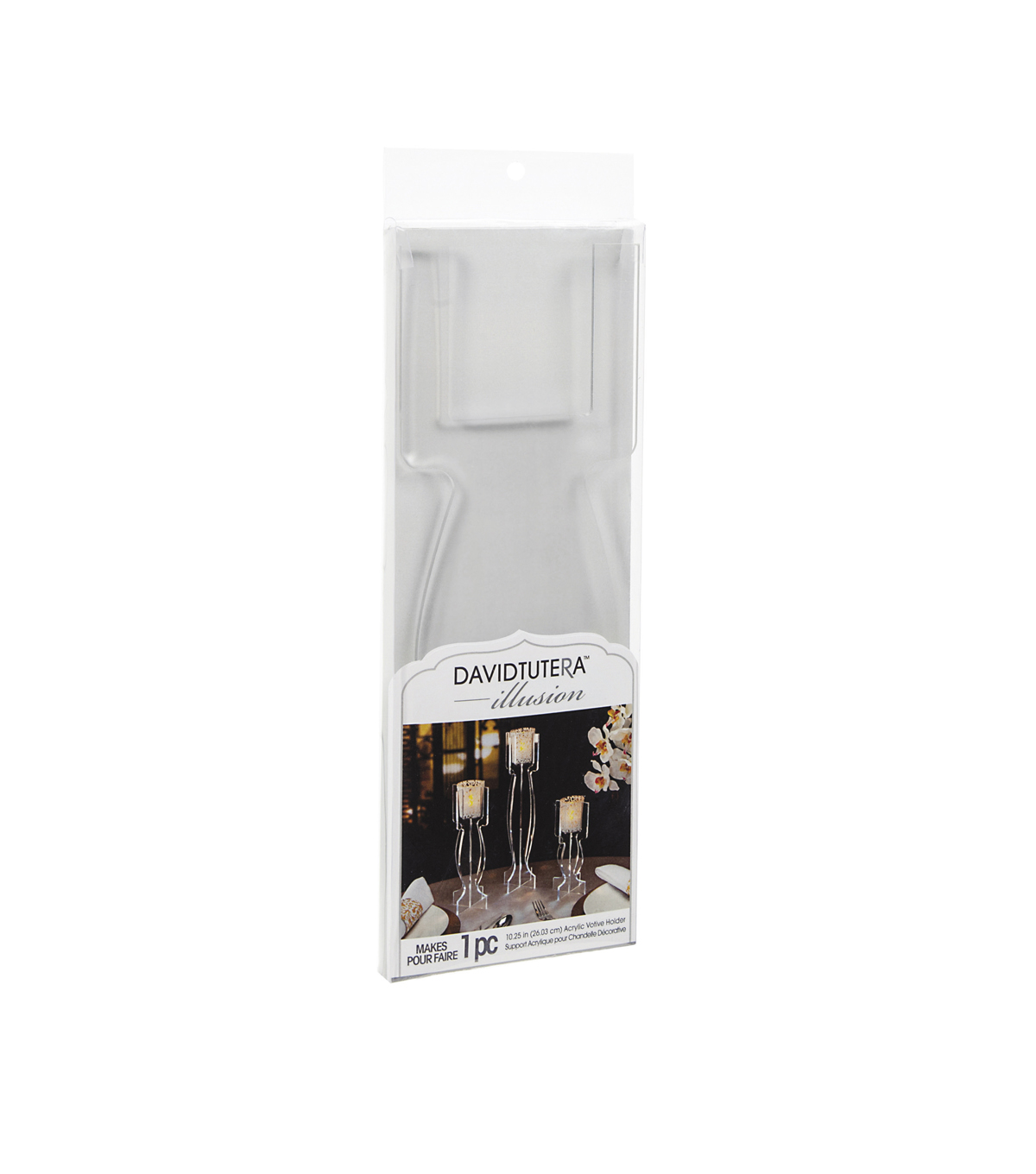 Clear Acrylic Votive Holder - 10.25 inches