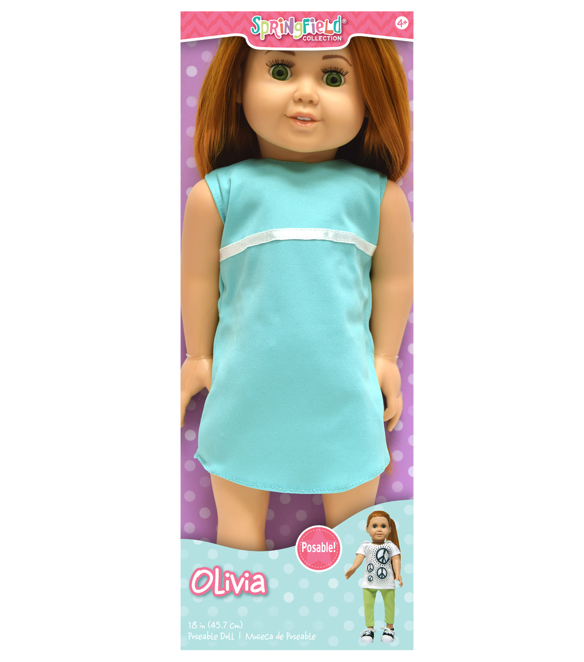 Springfield Boutique Pre-Stuffed Doll 18\u0022-Olivia-Red Hair and Green Eyes