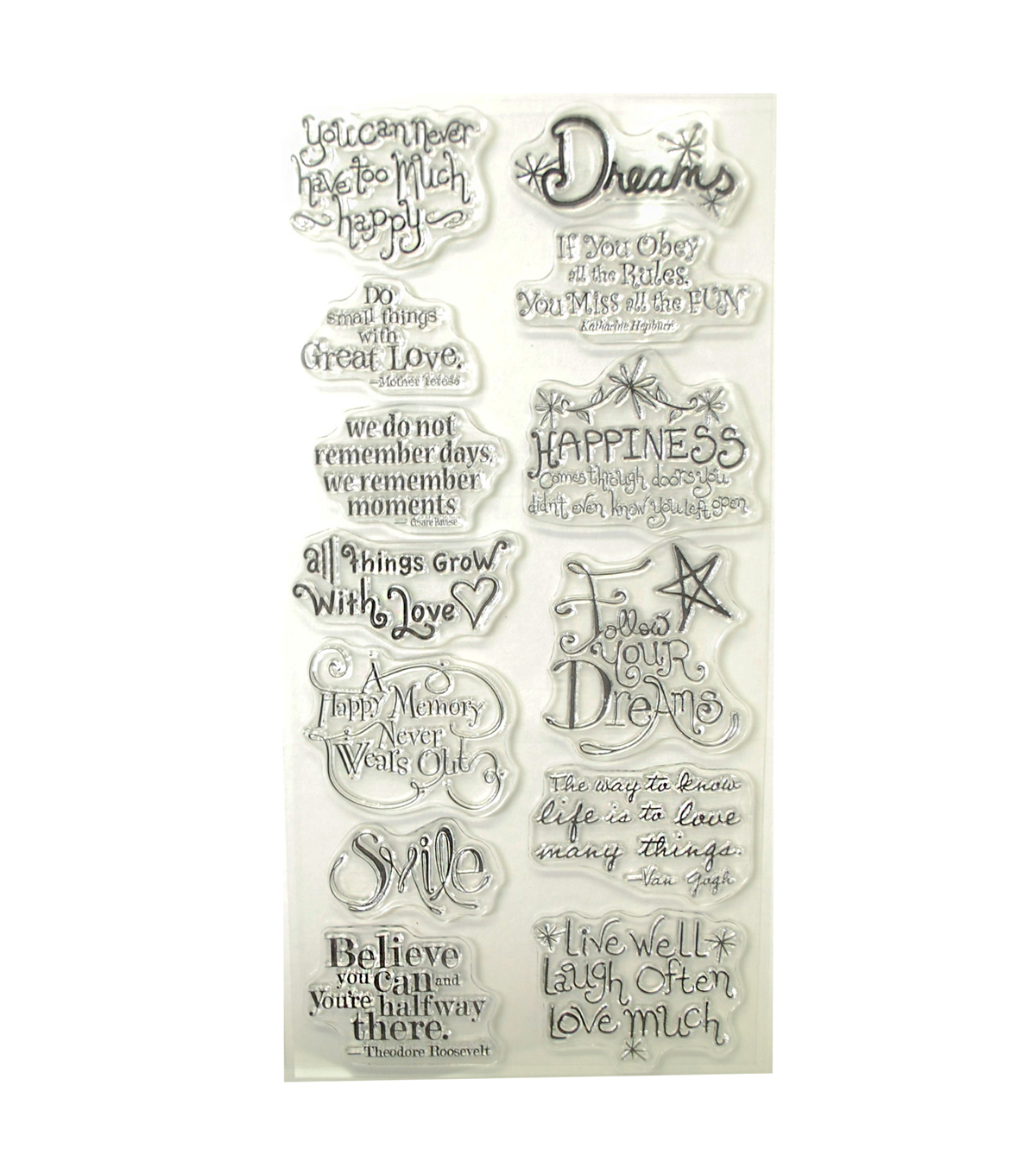 KI Memories Playful Expressions Clear Stamp Set