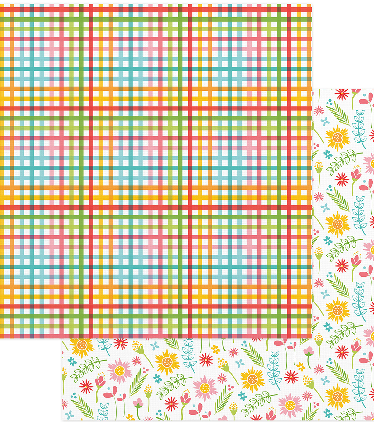 Summer Bucket List Double-Sided Cardstock 12\u0022X12\u0022-Picnic Table