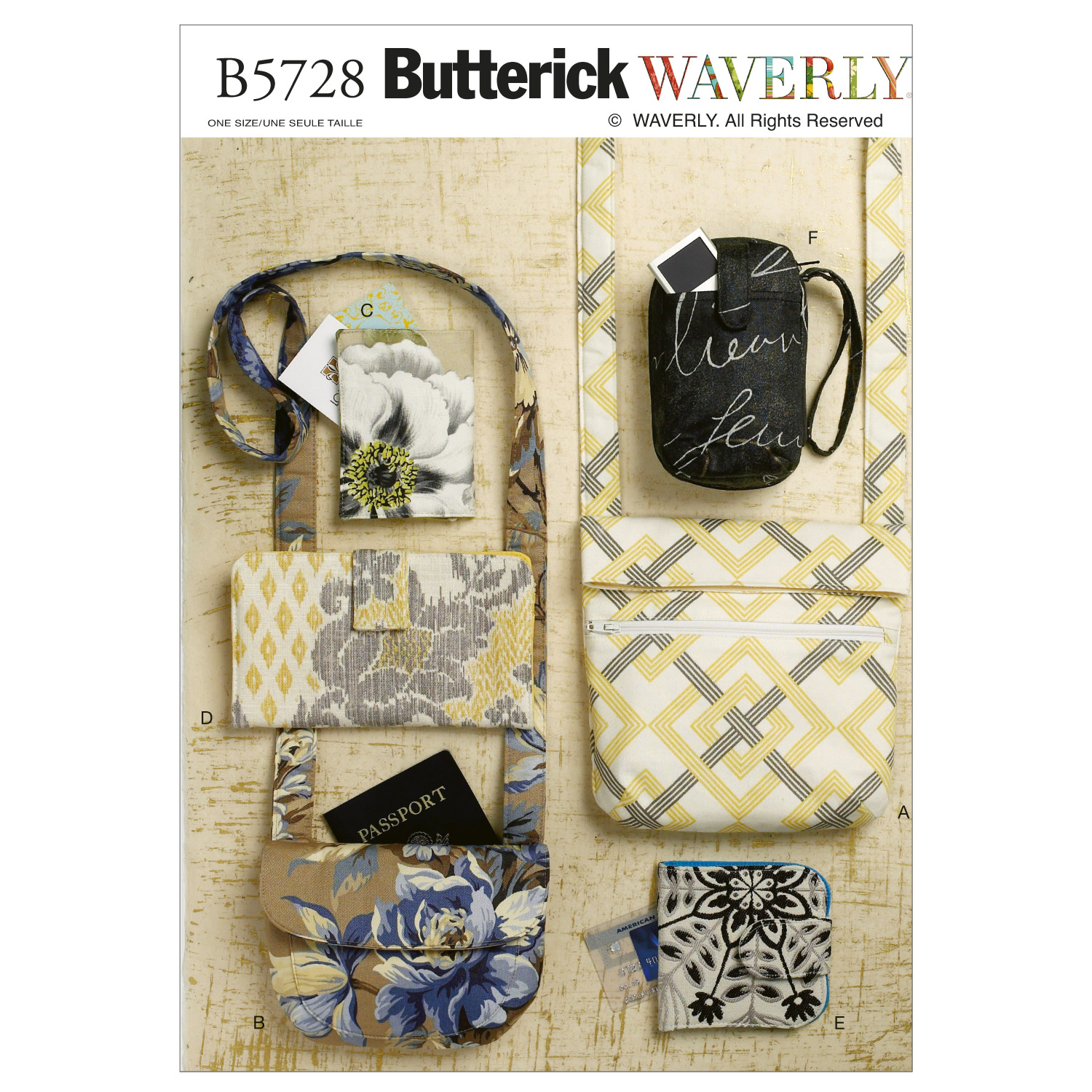 Butterick Crafts Totes & Bags-B5728
