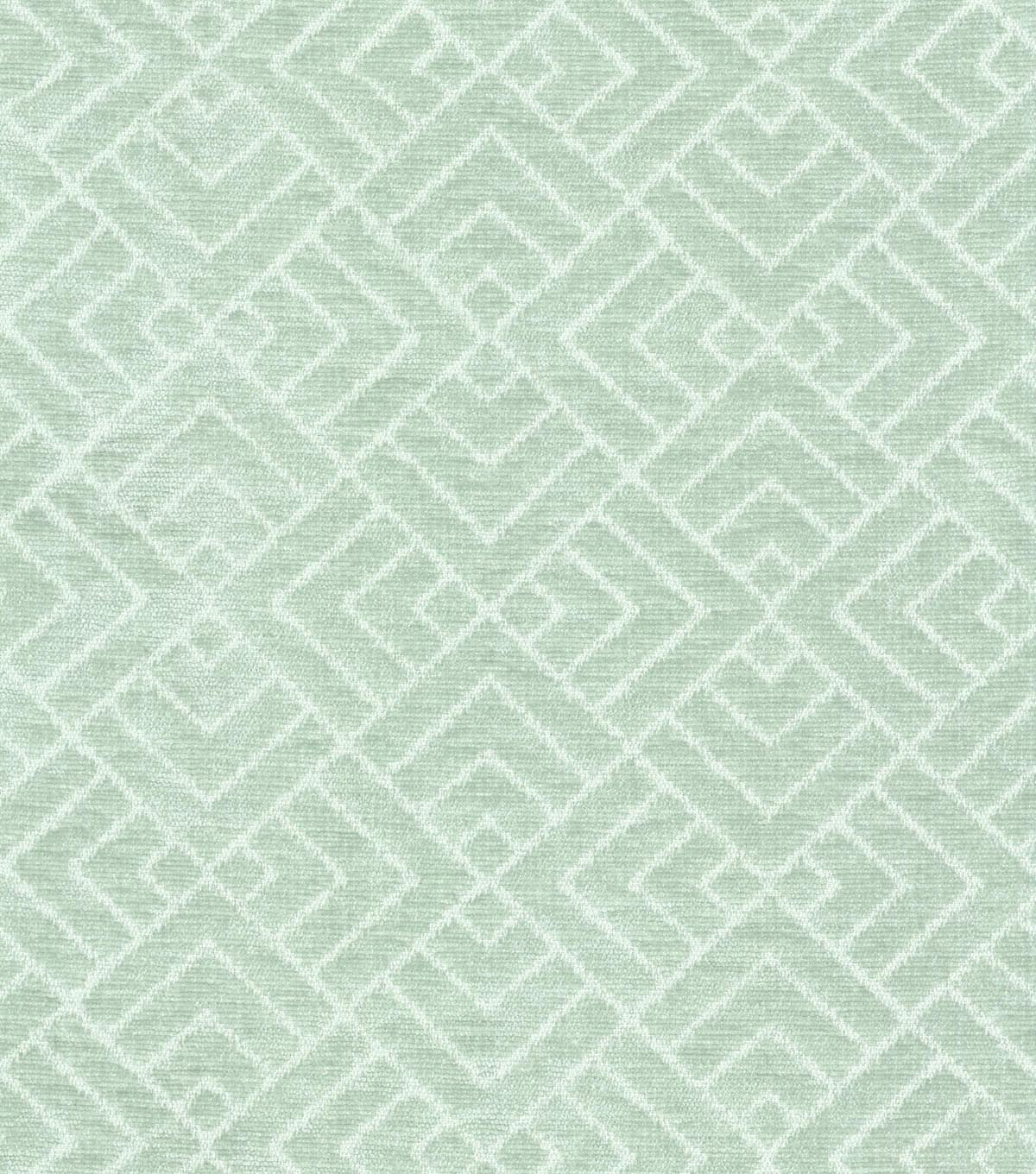 "Home Decor 8""x8"" Swatch Fabric-IMAN Home Tambal Lattice Mineral"