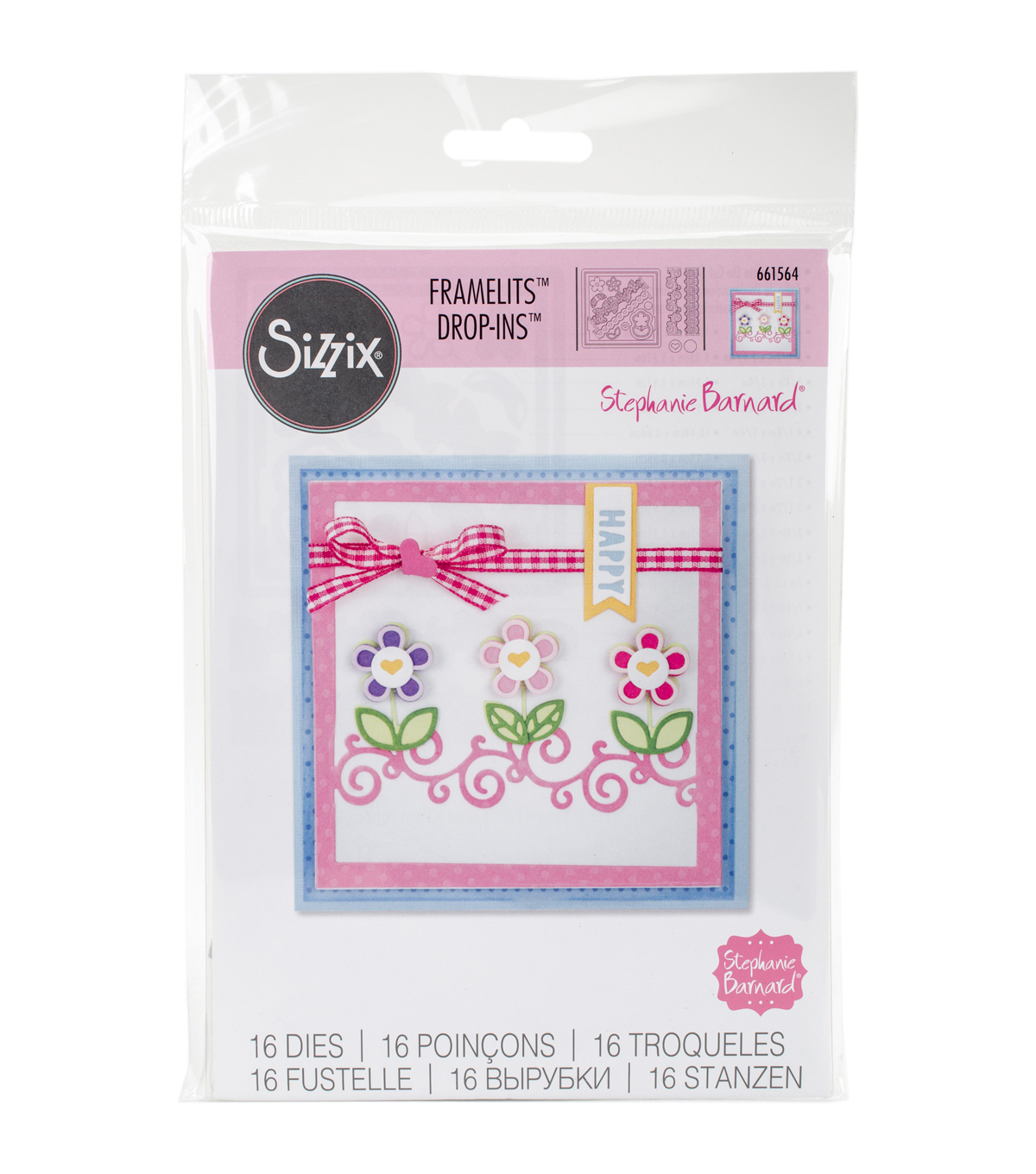Sizzix® Framelits™ 16 Pack Dies-Card Front W/Borders Drop-Ins