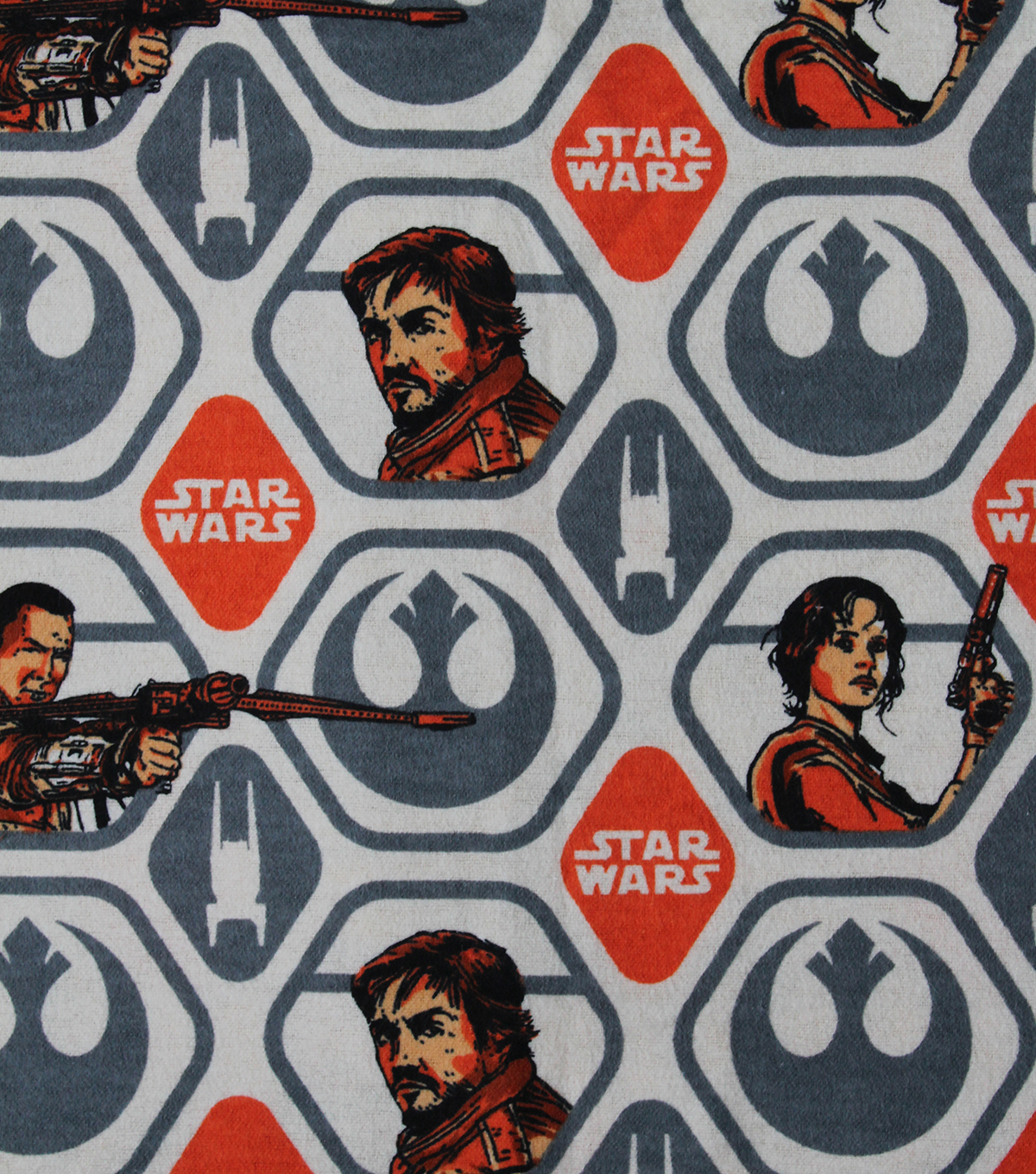 Star Wars™ Rogue One Flannel Fabric 42\u0022-Rebel Polygon