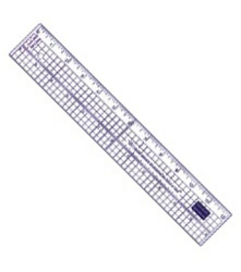 Acrylic Ruler With Metal Edge 12\u0022