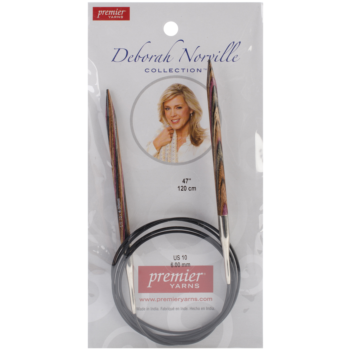 Deborah Norville Fixed Circular Needles 47\u0027\u0027 Size 10/6.0mm