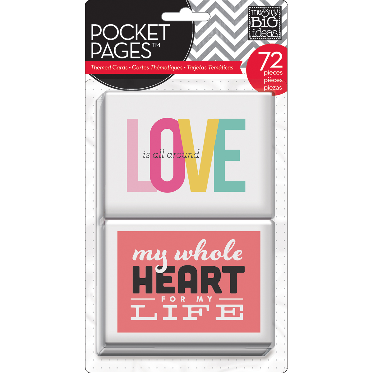 "Me&My Big Ideas Love Pocket Pages Cards 3""x4"""