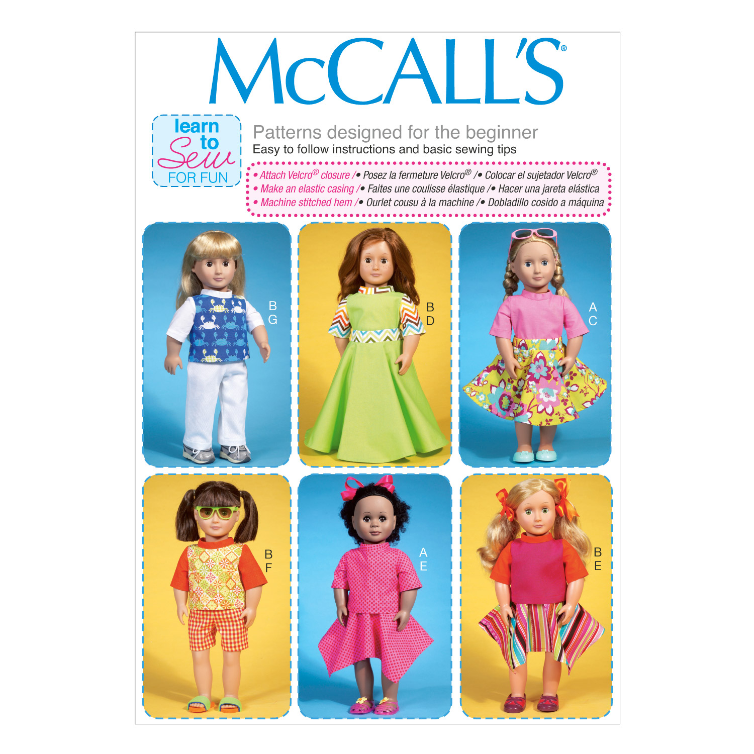McCall\u0027s Crafts Doll Clothes-M7106