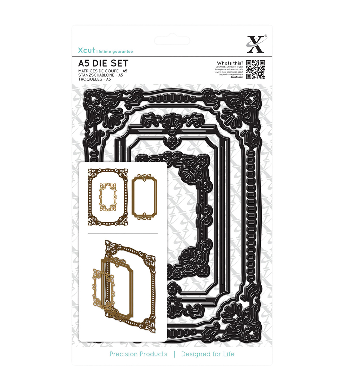 Xcut Ornate Frames Square A5 Die Set
