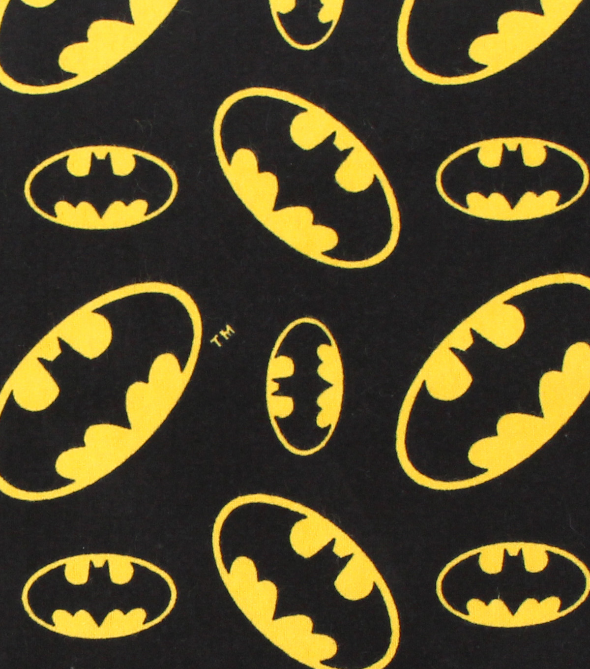 DC Comics Batman Flannel Fabric 42\u0022-Logo