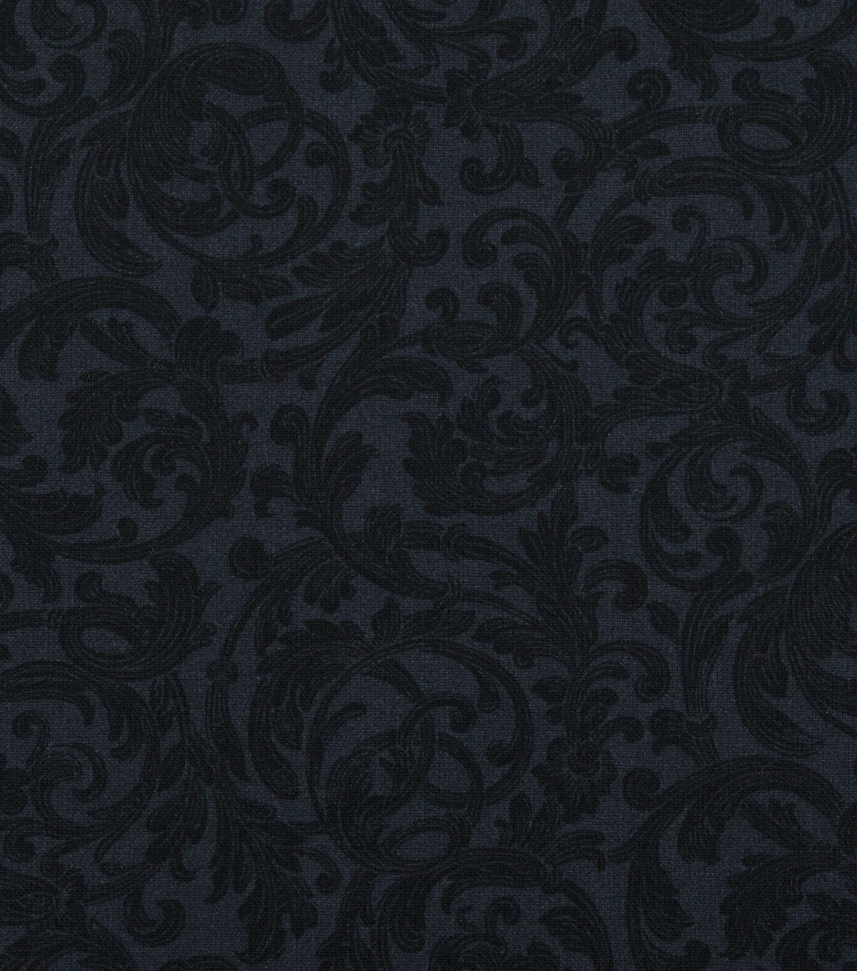 Keepsake Calico™ Cotton Fabric 108''-Black Floral Scroll