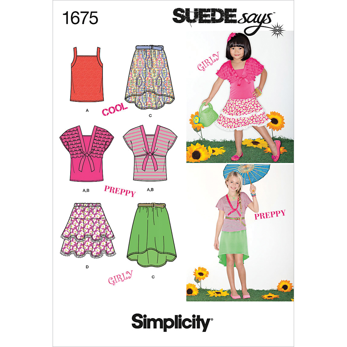 Simplicity Pattern 1675HH 3-4-5-6 -Simplicity Child Gir