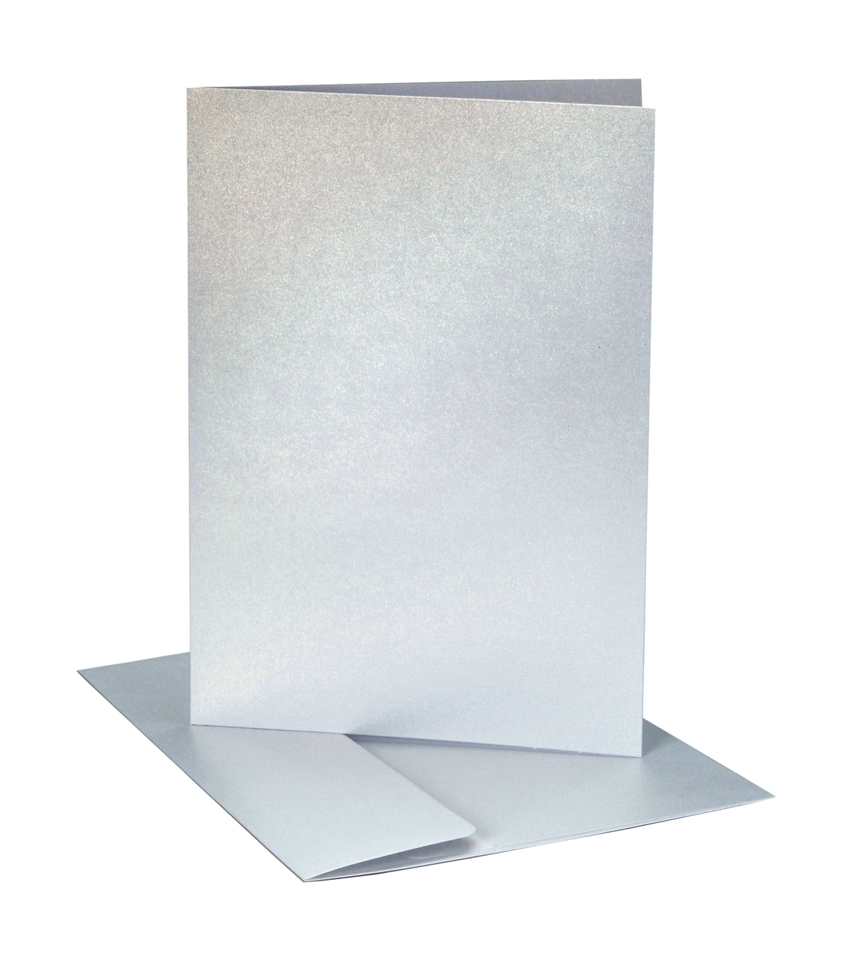 Core\u0027dinations Card/Envelopes:  A2  Silver Pearl; 40 pack