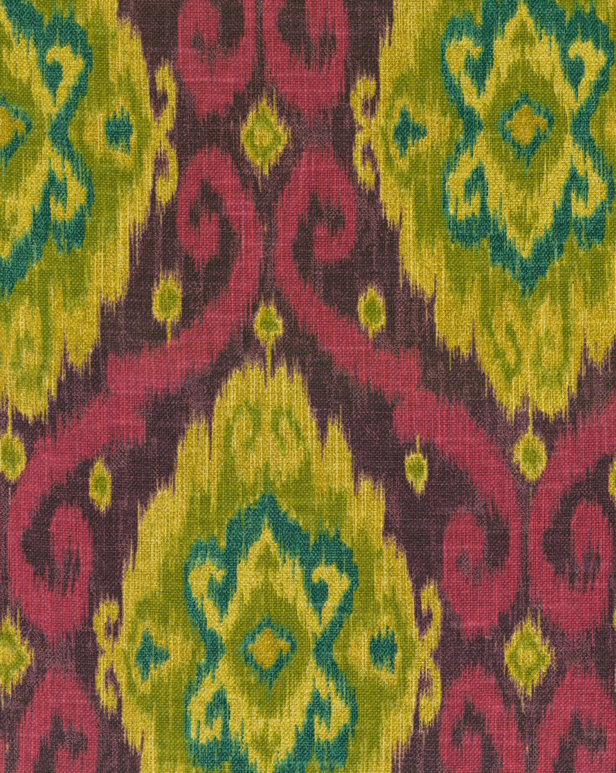 IMAN Home Print Fabric 54\u0022-Ubud/Tourmaline