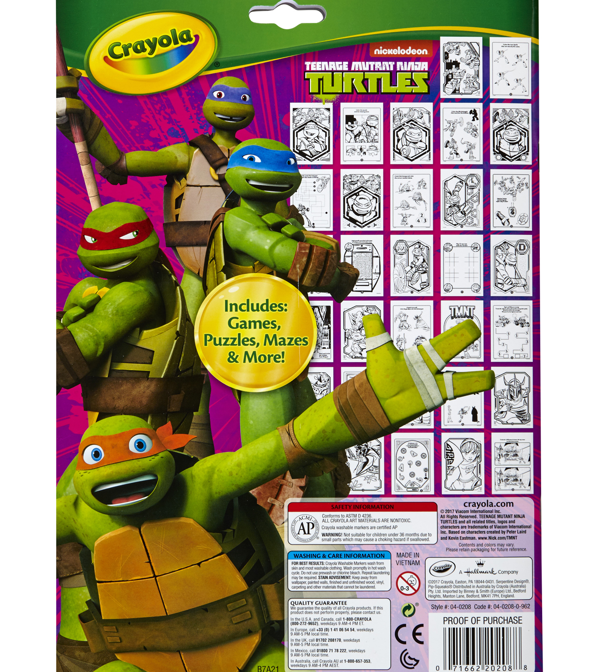 Crayola® Coloring And Activity Pad W/Markers-Teenage Mutant Ninja Turtles®