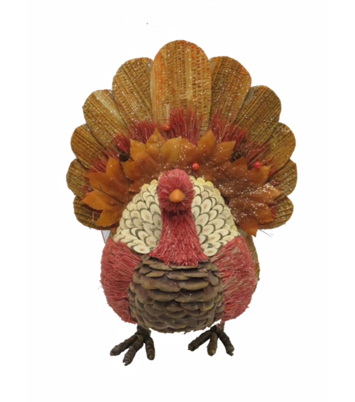 Blooming Autumn Large Standing Natural Turkey