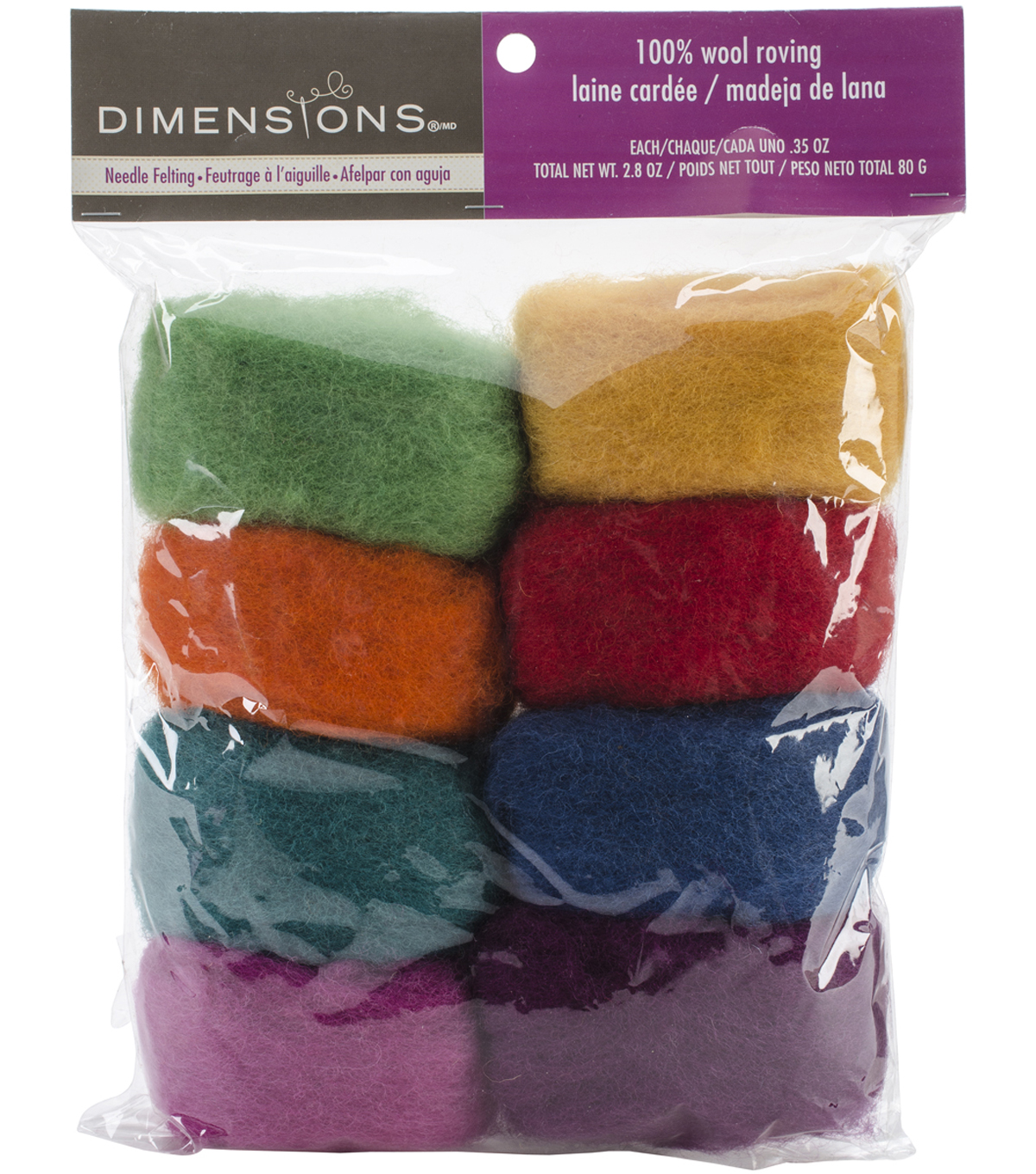 Feltworks Roving Value Pack 2.8oz-Rainbow