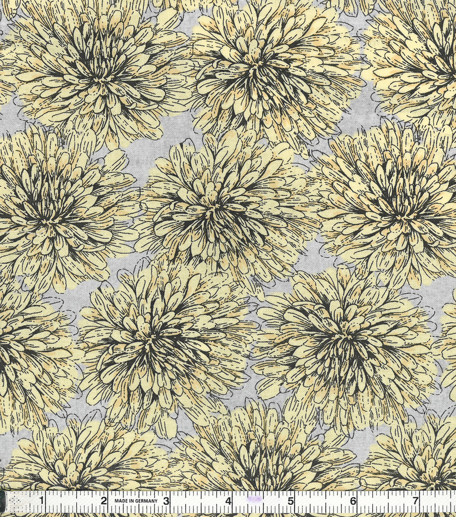 Two Daughters™ Cotton Fabric 43\u0022-Yellow Floral Bloom