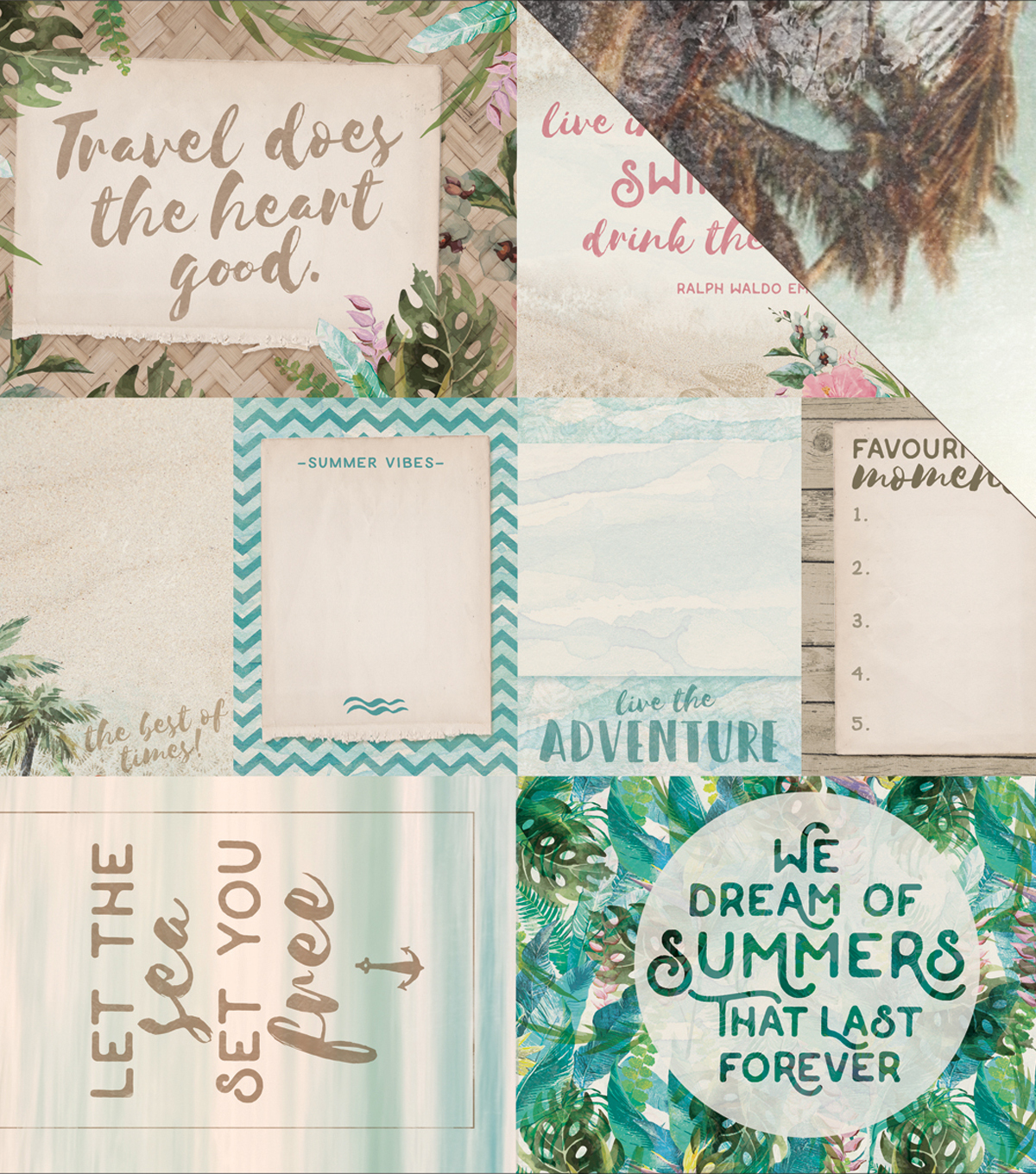 Island Escape Double-Sided Cardstock 12\u0022X12\u0022-Kahakai