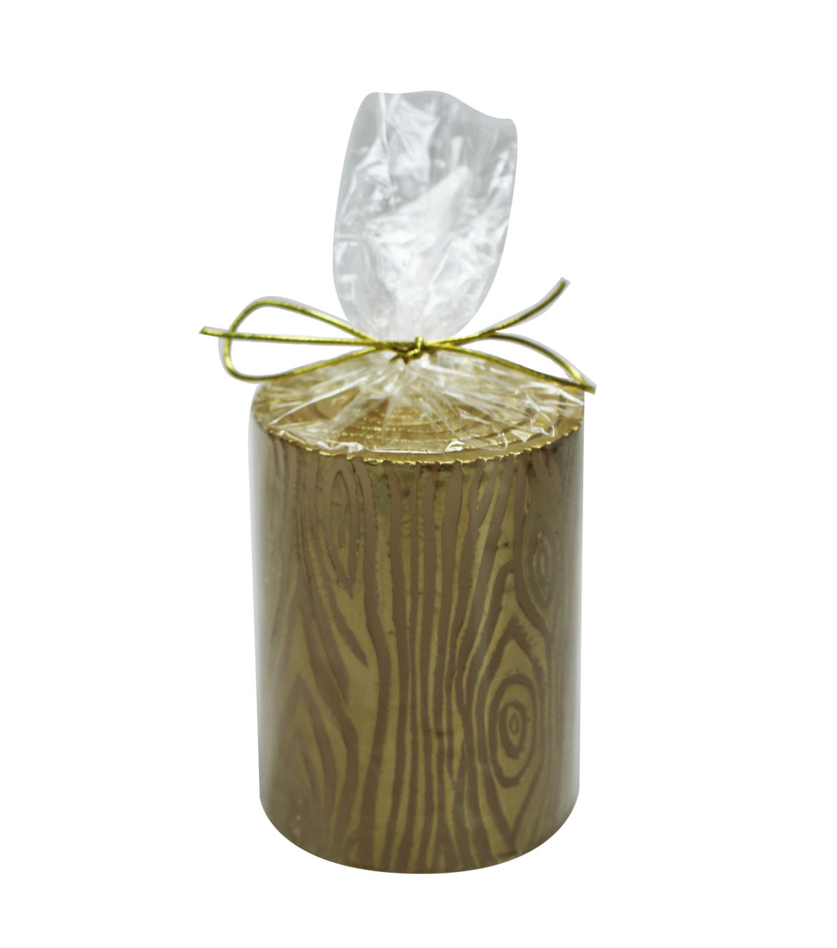Maker's Holiday 3''x4'' Pillar Candle-Gold Birch