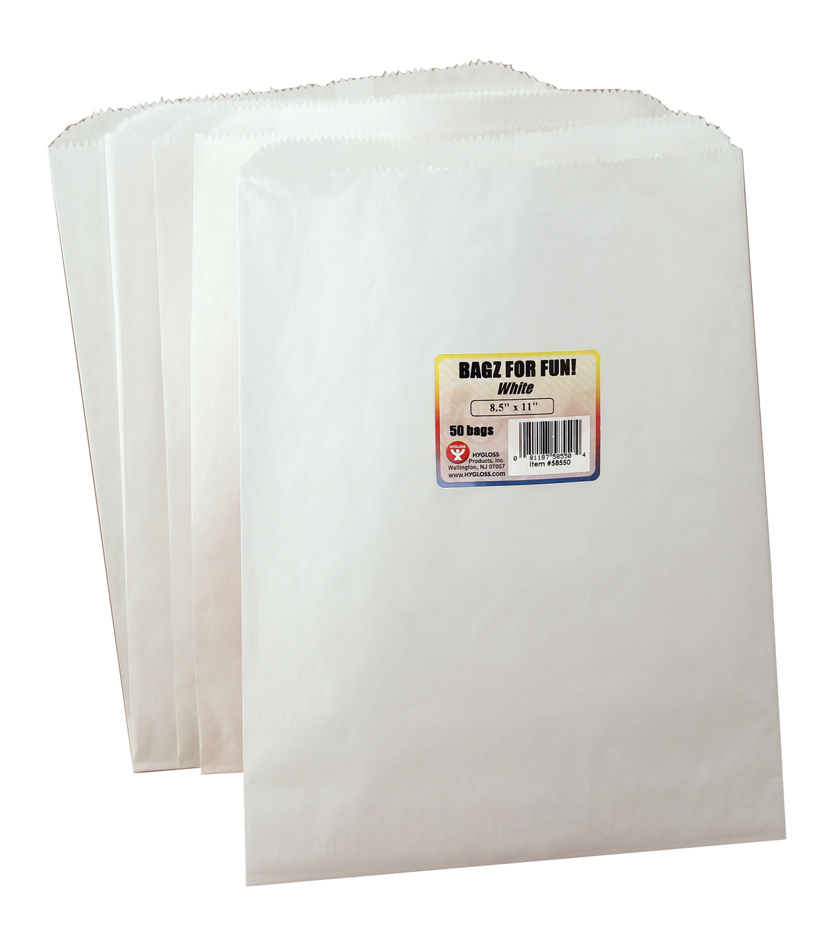 "Pinch Bottom Paper Bags 8-1/2""X11"" 50/Pkg-White"