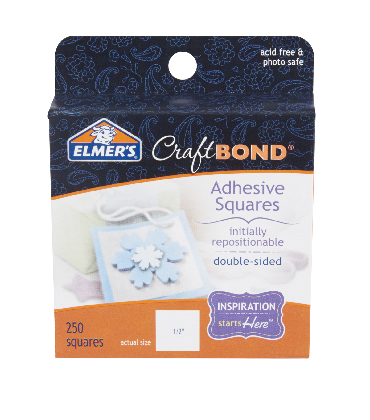 "Elmer's Adhesive Squares .50""X.50""-Initially Repositionable 250/Pkg"