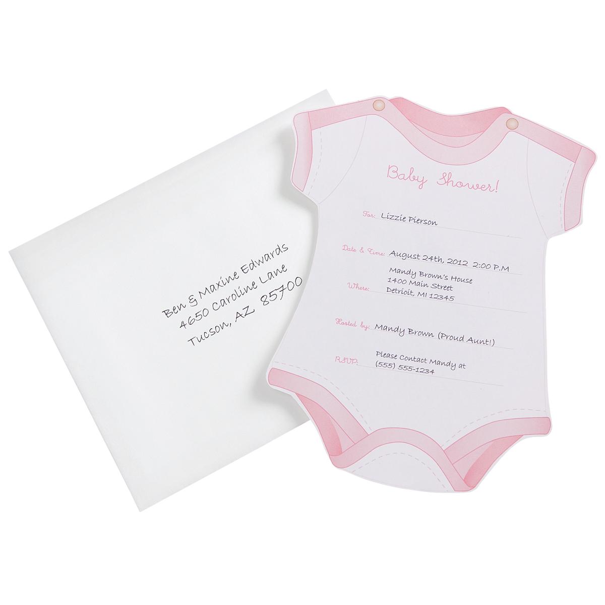Invitations & Envelopes 12/Pkg-Girl Baby Shower | JOANN
