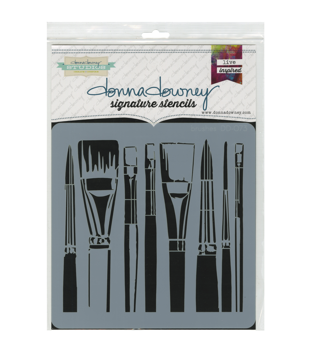 Brushes -donna Downey Stencil