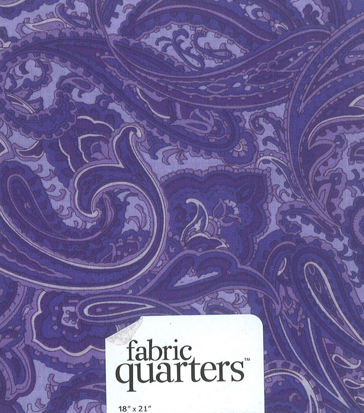 Fabric-Quarters Assorted Fabric-Purple