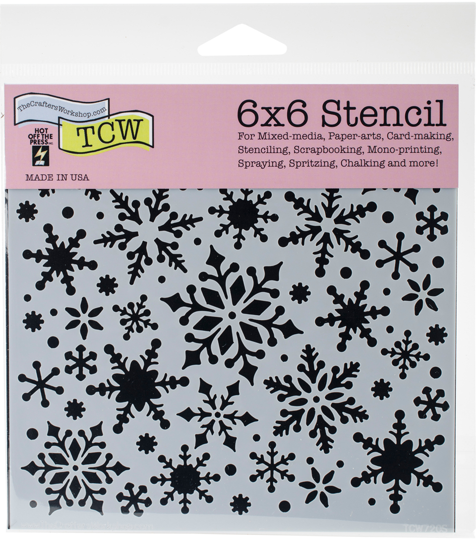 Crafter\u0027s Workshop Hot off the Press Template 6\u0027\u0027x6\u0027\u0027-Snowflakes