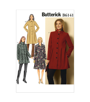 Butterick Pattern B6141-A50-Misses\u0027 Coat-6-8-10-12-14