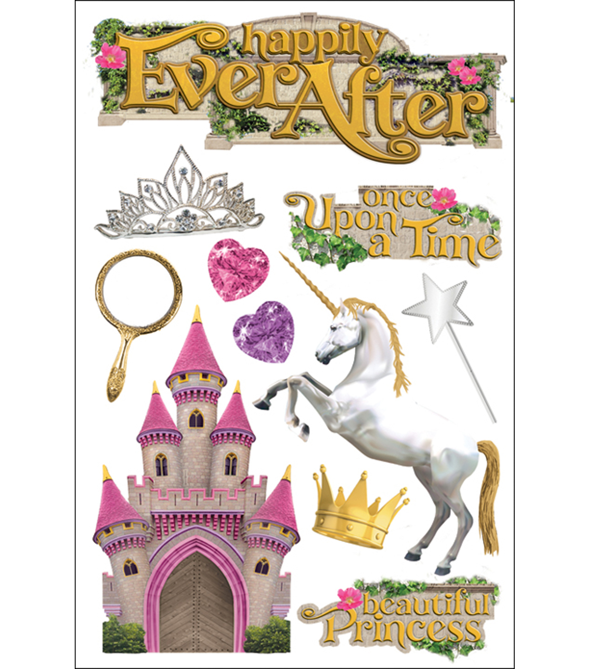 Paper House 3-D Sticker-Happily Ever After