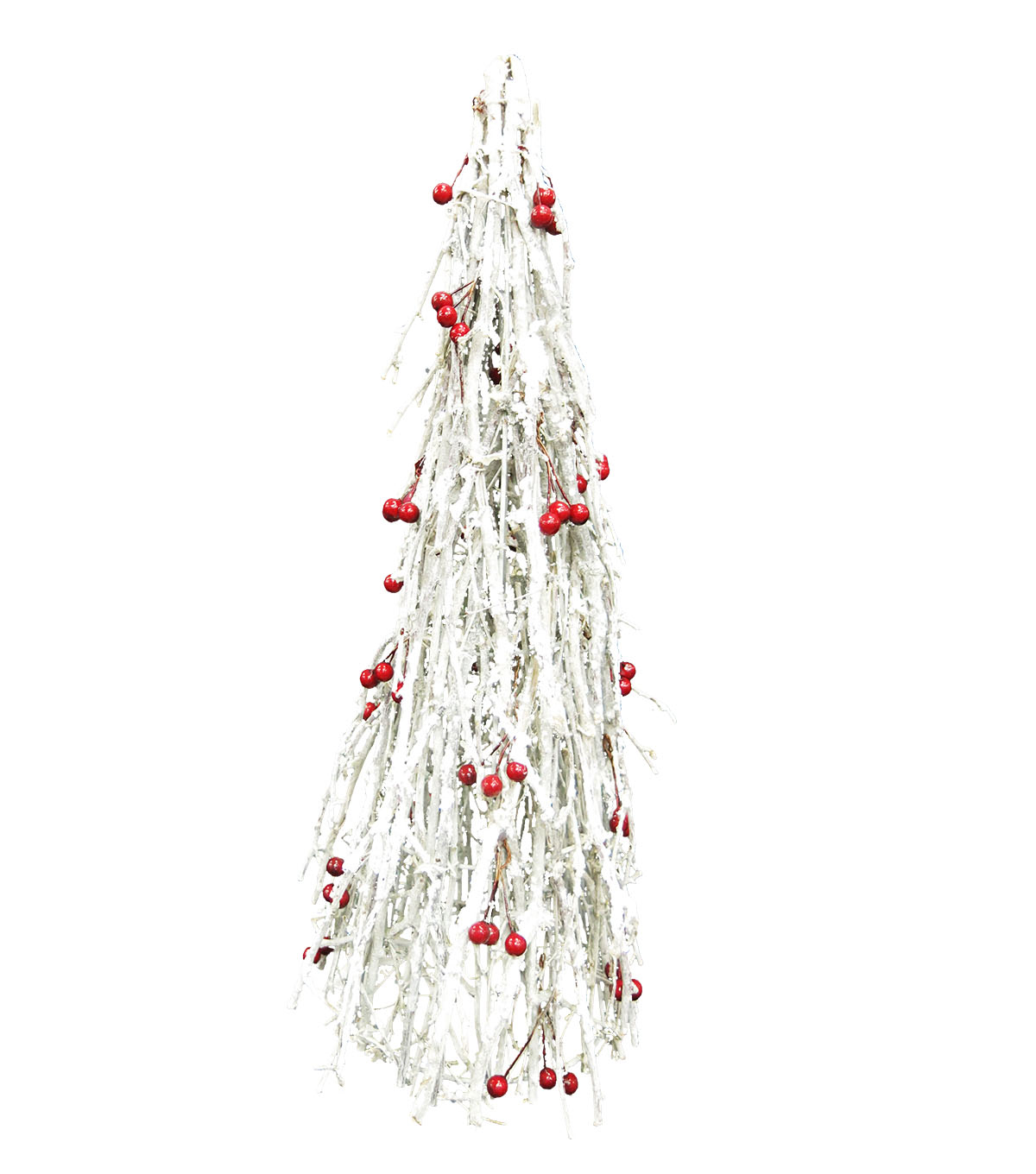 Maker\u0027s Holiday Small Berry Cone Tree-White
