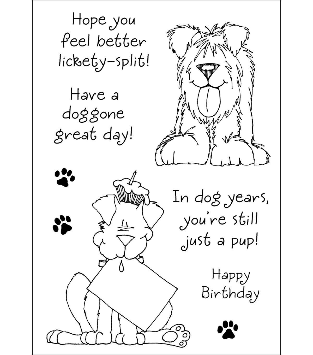 Inky Antics Clear Stamp Set-Delightful Dogs #1