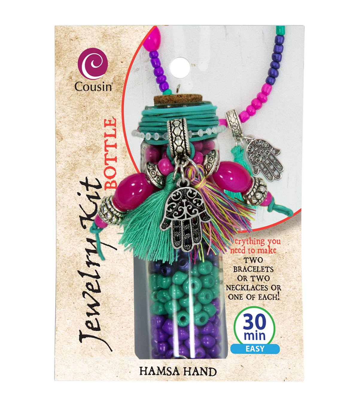 Jewelry Kit In A Bottle-Hamsa