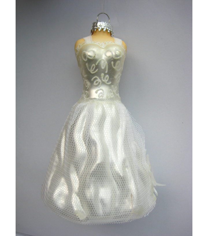 Maker\u0027s Holiday Wedding Dress Ornament