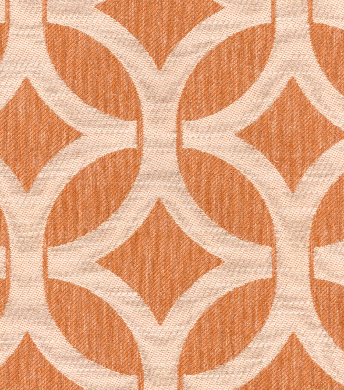 "Waverly Upholstery Fabric 55""-Ludlow Lattice/Persimmon"