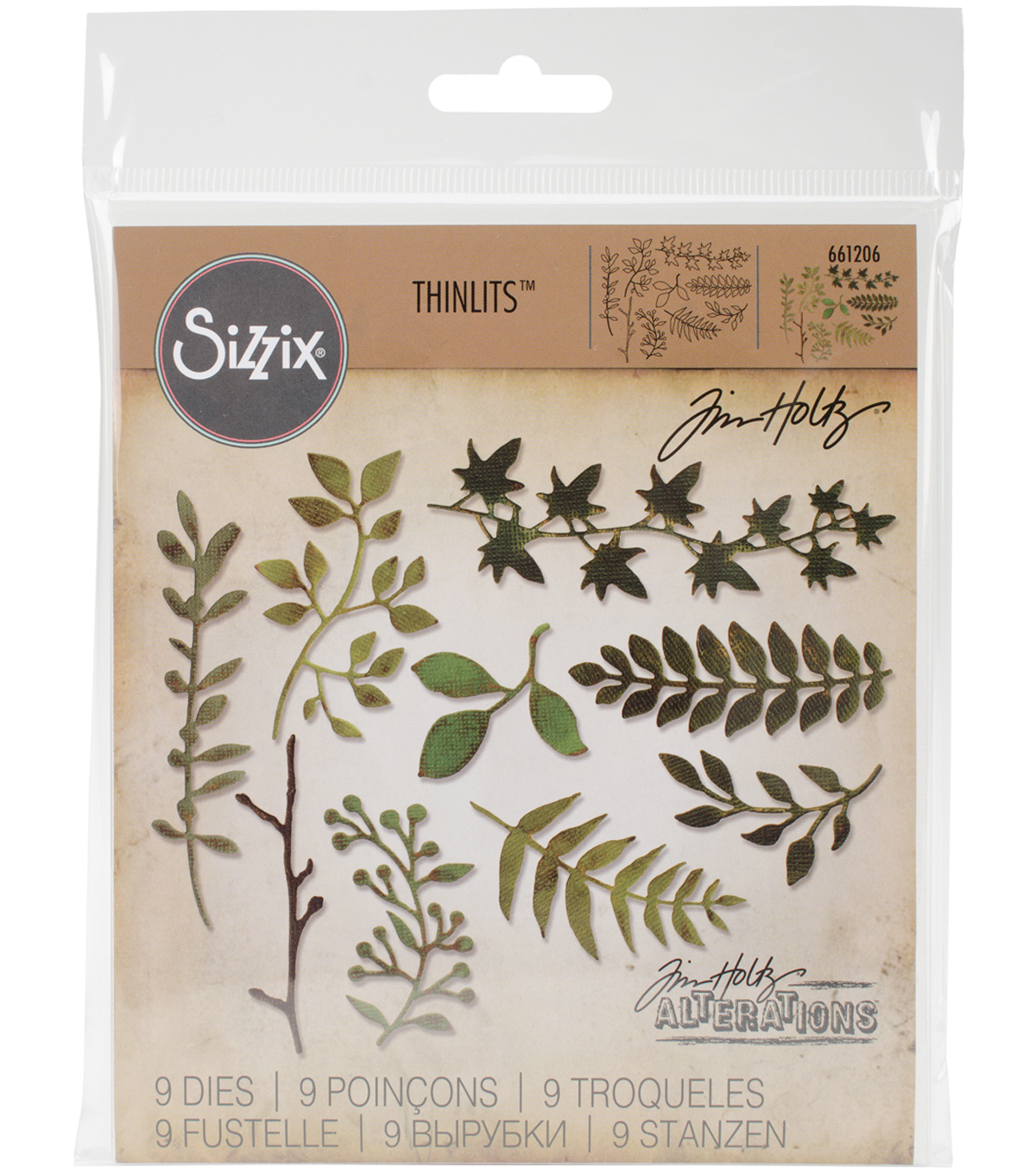 Sizzix Thinlits Dies-Garden Greens
