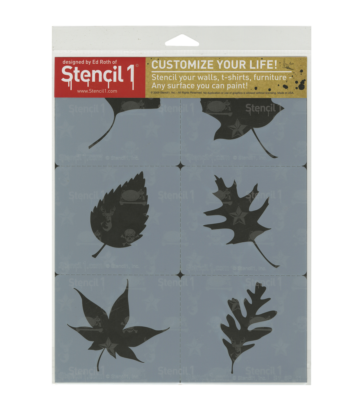 Stencil1 Leaves Silhouettes Set Stencil