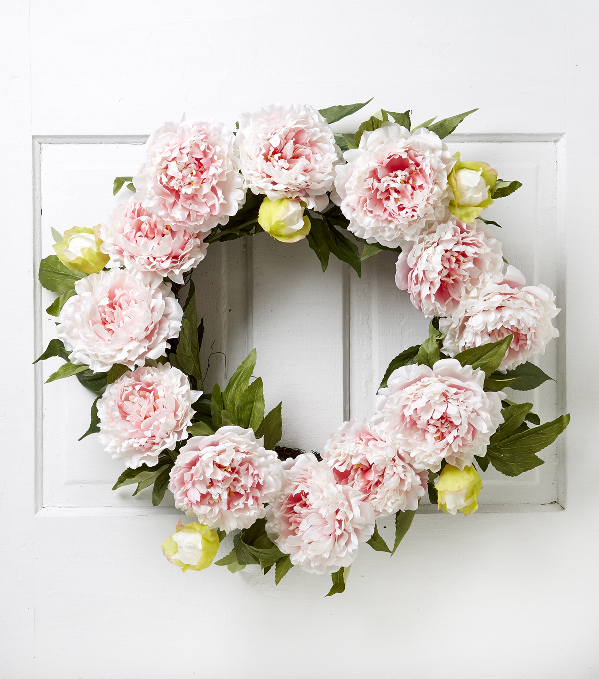 Blooming Spring 23'' Peony Wreath-Pink