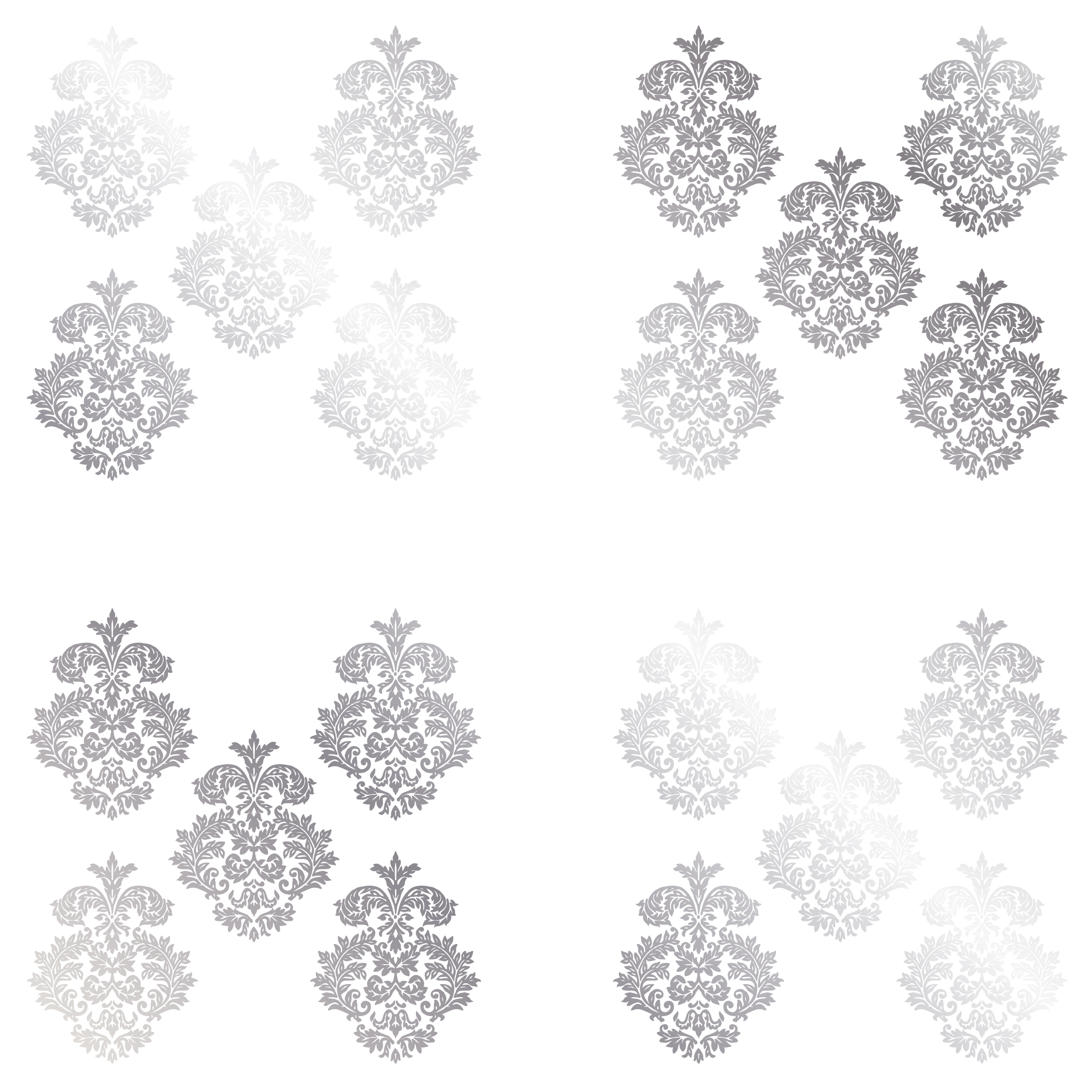 Superieur DCWV Home Peel And Stick Vinyl Wall Art: Silver Damask