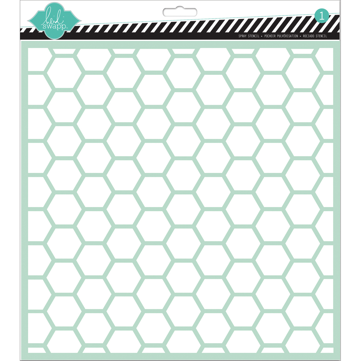 Heidi Swapp 12\u0027\u0027x12\u0027\u0027 Plastic Spray Stencil-Hexagon