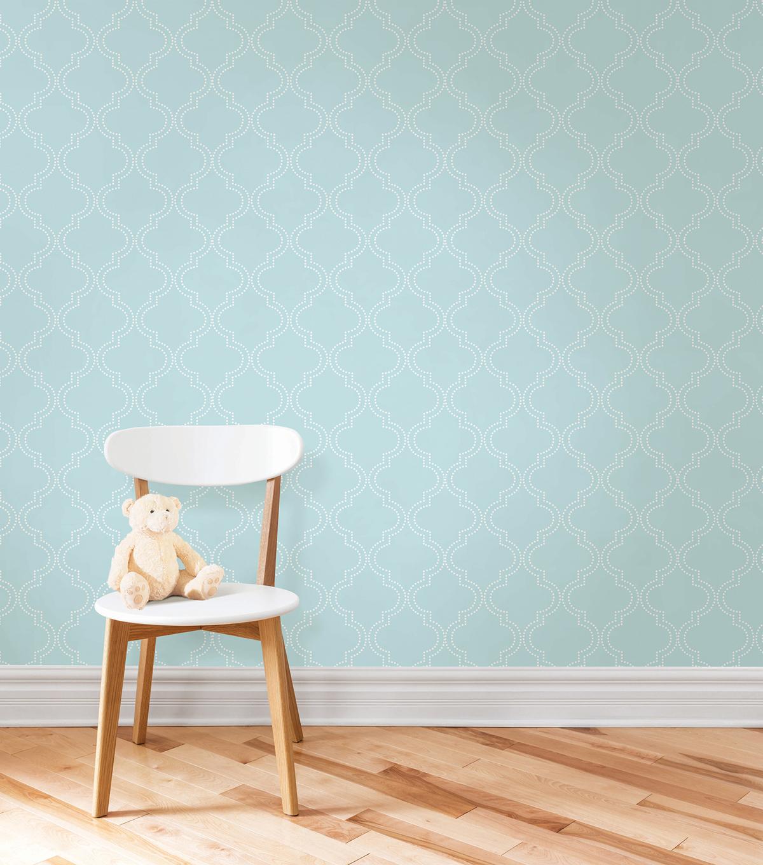 WallPops®NuWallpaper™ Blue Quatrefoil Peel And Stick ...