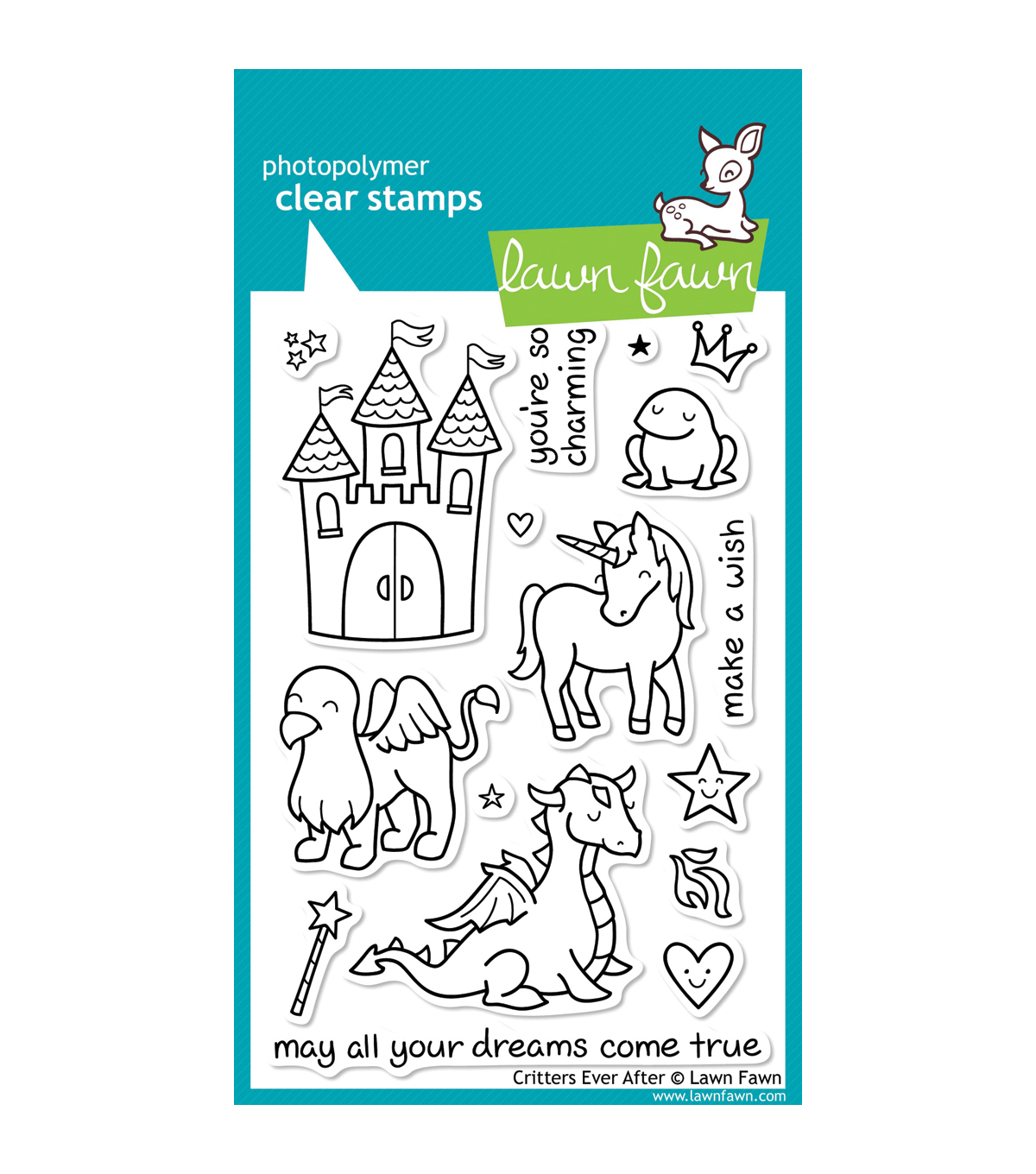 Lawn Fawn Clear Stamps 4\u0022X6\u0022-Critters Ever After