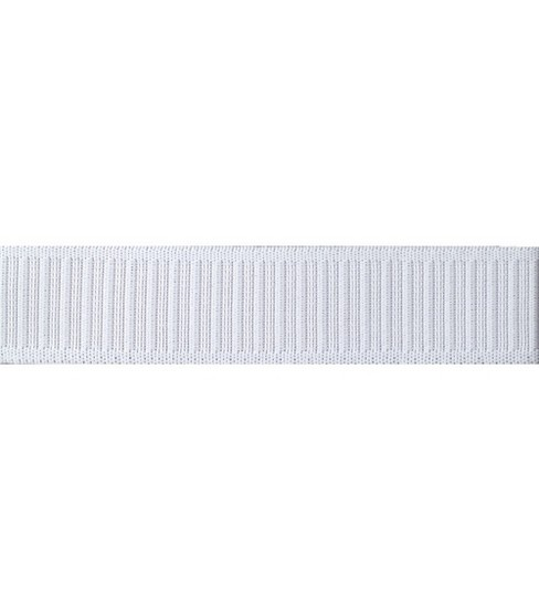 Non-Roll Knit Ribbed Elastic 1-1/4\u0022 Wide 30 Yds-White
