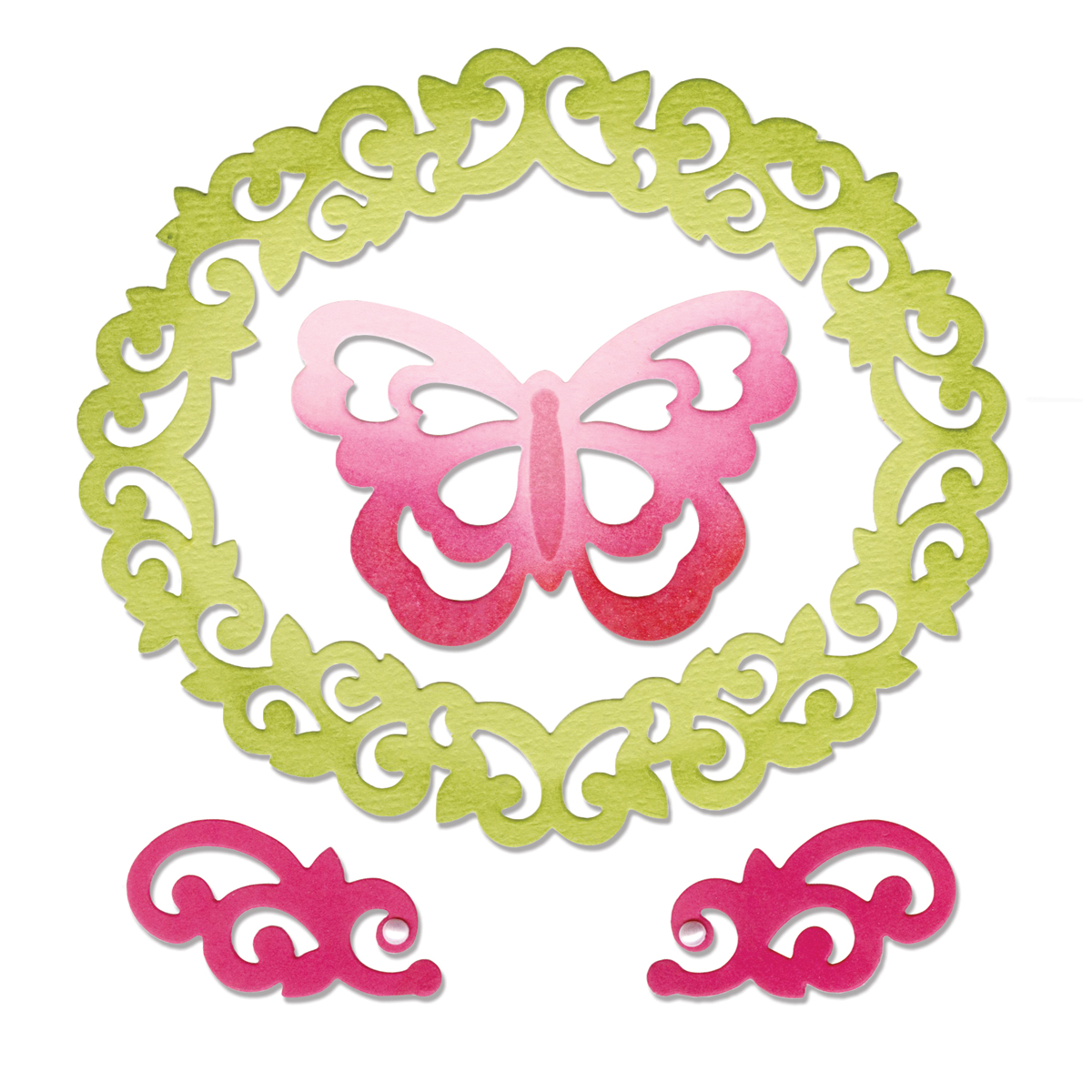 Sizzix Thinlits Dies Butterfly, Flourishes & Frame