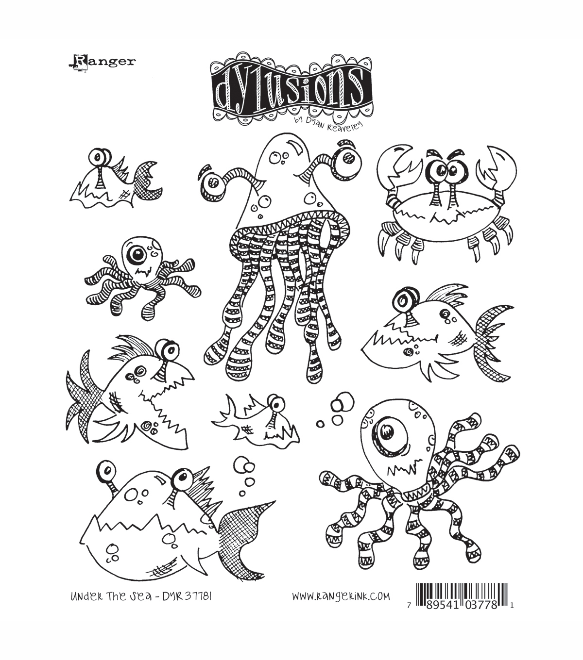 Dyan Reaveley\u0027s Dylusions Cling Stamp Collection-Under The Sea